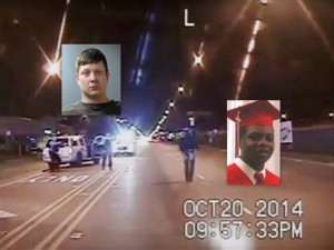 Chicago police officer Jason Van Dyke and Laquan McDonald.