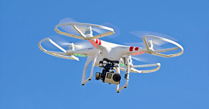 A flying drone with camera is an immersive journalism tool. (Columbia Journalism Review photo)