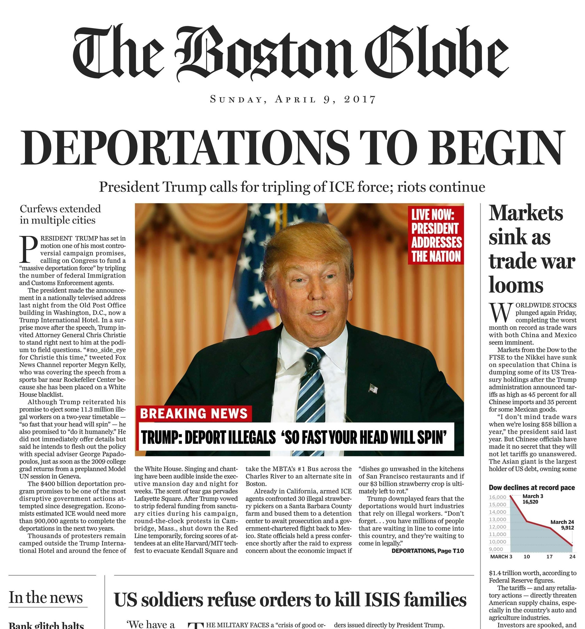 boston globe fakes front page | ethics adviceline for journalists