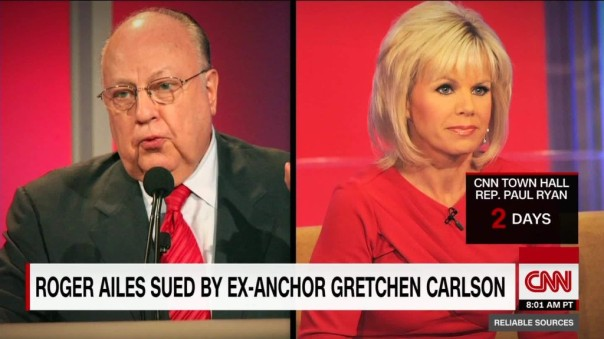 Roger Ailes and Gretchen Carlson